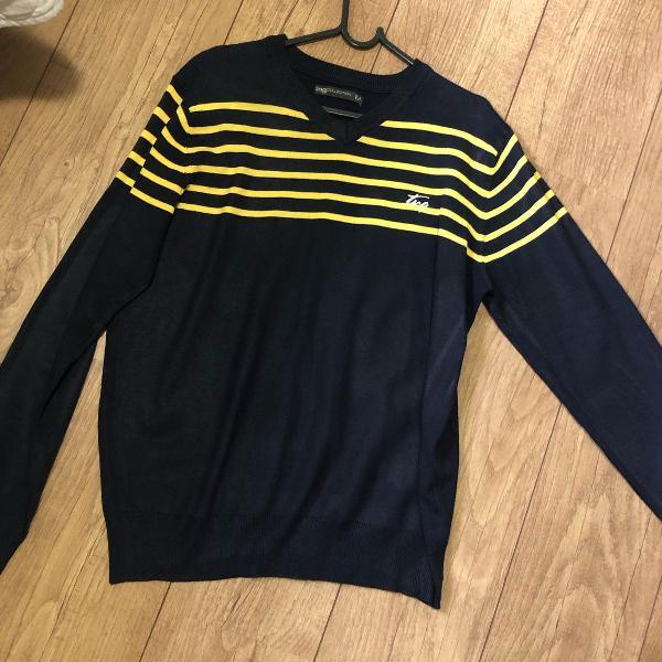 Suéter masculino azul marinho