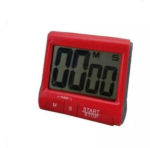 Cronômetro digital cozinha tela e nº grandes timer sonoro