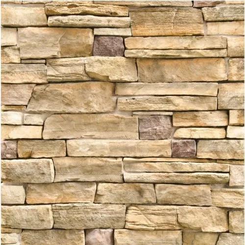 Papel de parede 3d canjiquinha pedras vinílico