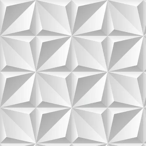 Papel de parede 3d efeito cinza geométrico adesivo 305x57cm