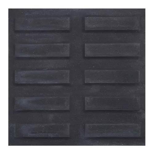 Piso cimentício rústico suvial rampa filete preto 20x20cm