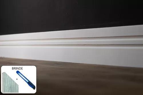 Rodapé eva flexível autoadesivo 10cmx1cm napoli 30 metros