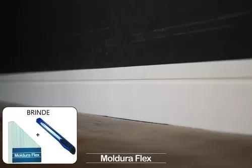 Rodapé eva flexível autoadesivo 7cm x 0,5cm lucca 06