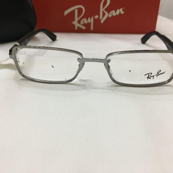 Armação óculos ray ban 6250 metal preto masculino