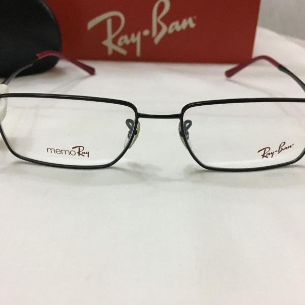 Armação óculos ray ban 7517 metal preto masculino