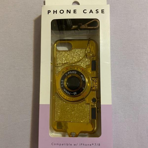 Case iphone 7/8 câmera falsa bolsa