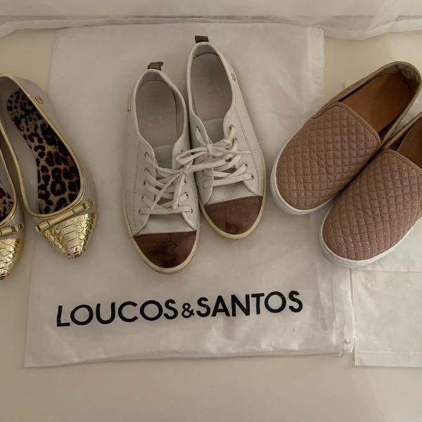 Kit/lote 3 sapatos femininos de marca tamanho 36