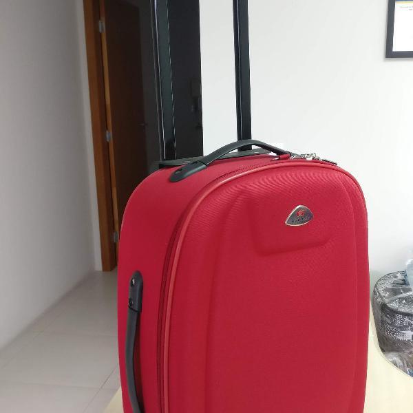 Mala de viagem pequena vermelha nova