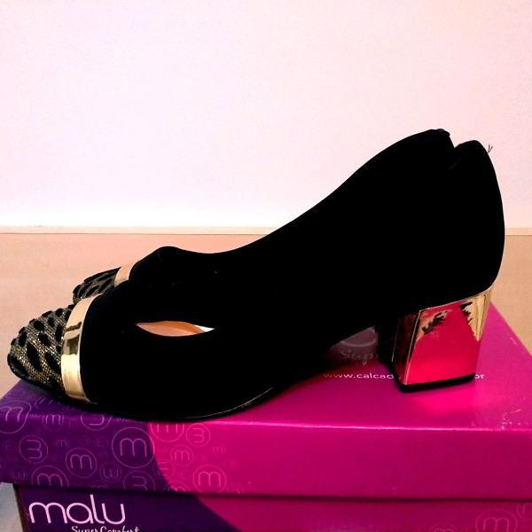 Sapato super confort all pé preto festa 39