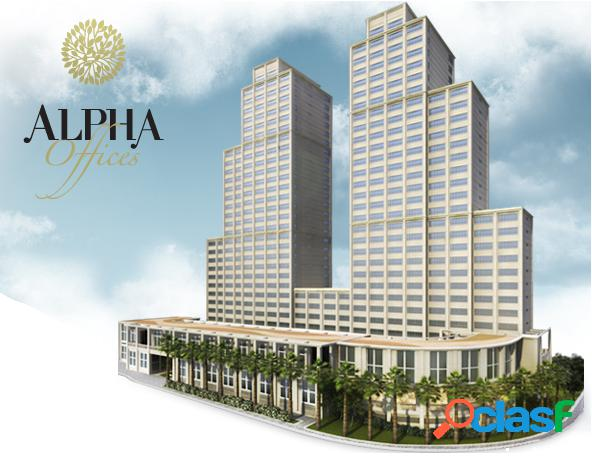 Sala comercial Alpha Offices 47m², 1 vaga, 2 banheiros 1
