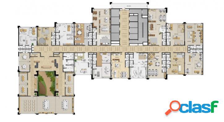 Sala comercial Alpha Offices 47m², 1 vaga, 2 banheiros 3