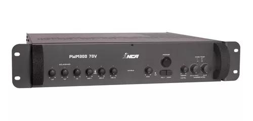 Amplificador ambiente ll audio nca pwm300 70v 600w 2 mic