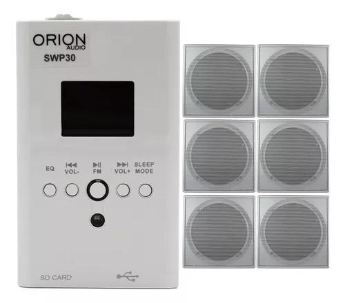 Amplificador bluetooth + 6 caixa de som teto orion wall