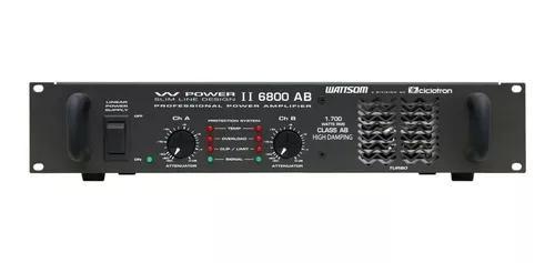 Amplificador de potência ciclotron wp-6800/4 ohms 1700wrms
