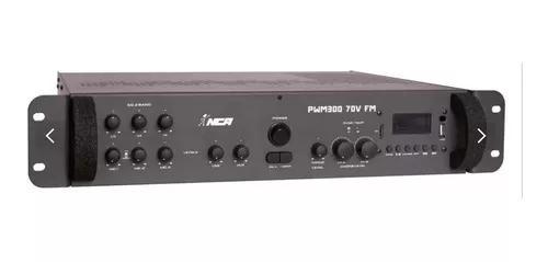 Amplificador de potência som ambiente nca pwm 300 70v fm bt