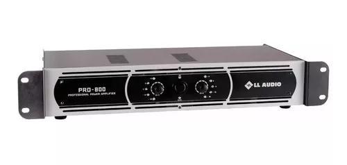 Amplificador de potênica pro 800 ll audio 4 ohms 200wrms