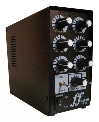 Amplificador e setorizador de caixa de som ambiente 3 canais