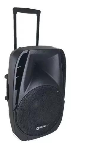 Caixa de som amplificada ativa 15 pl 500w rms bluetooth 2mic