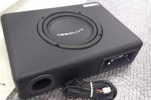 Caixa de som amplificada automotiva slim sub 8 polegadas