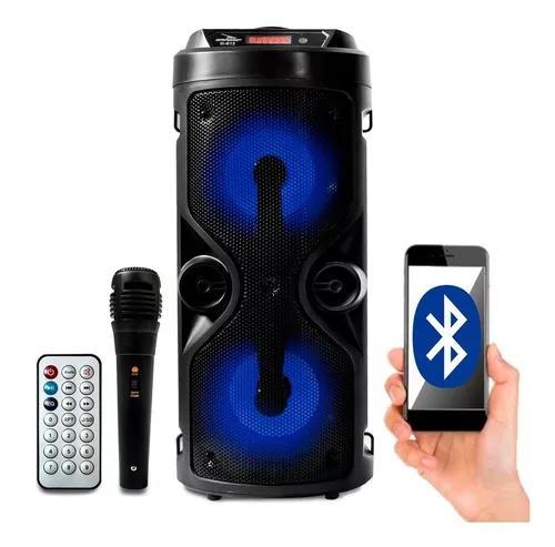 Caixa de som bluetooth amplificada portátil bateria fm 800w