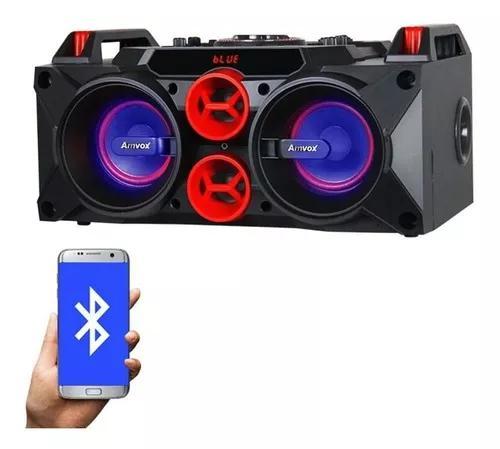 Caixa som amplificada bluetooth 150w bateria recarregável