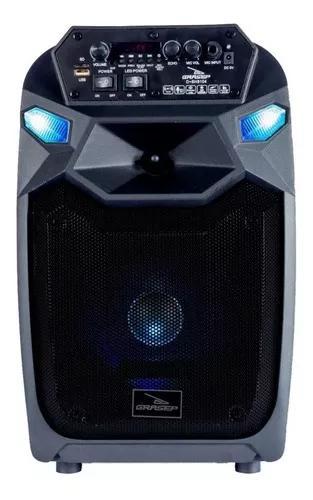 Caixa som amplificada bluetooth bateria + microfone karaokê