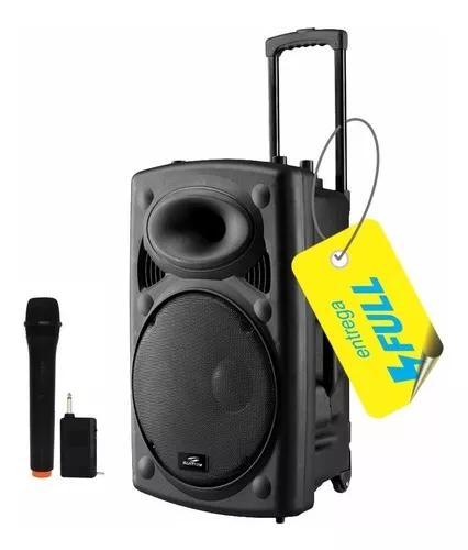 Caixa som torre amplificada 300w bluetooth microfone bateria