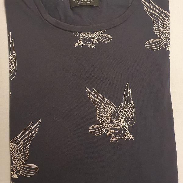 Camiseta com estampa de aguia zara tam m