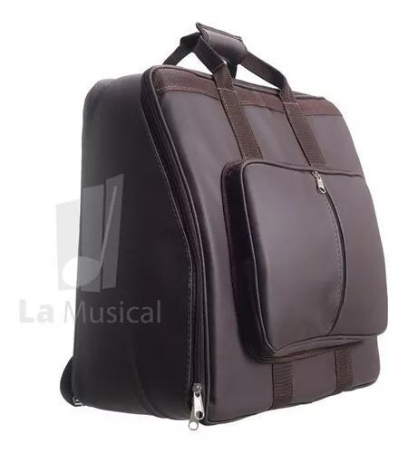 Capa bag acordeon,gaita,sanfona 80 baixos couro mochila