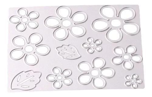 Corte metal flor morre stencil modelo scrapbooking álbum