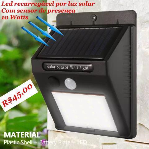 Economize energia - led recarregável por luz solar