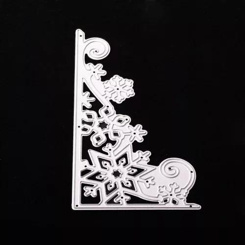 Floco de neve corte dies diy aço carbono die scrapbooking