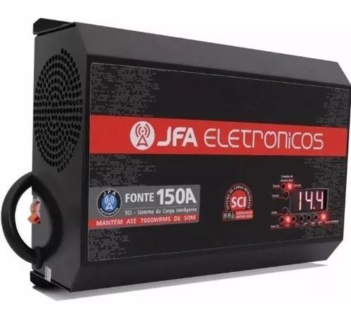 Fonte automotiva 150a jfa carregador slim tp stetsom