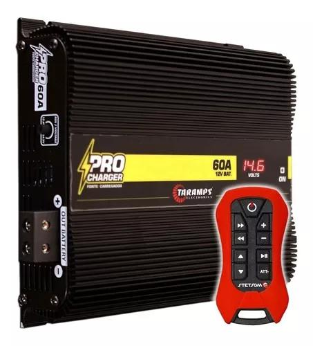 Fonte automotiva taramps pro charger 60a controle sx2