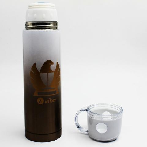Garrafa térmica inox com xícara 350ml