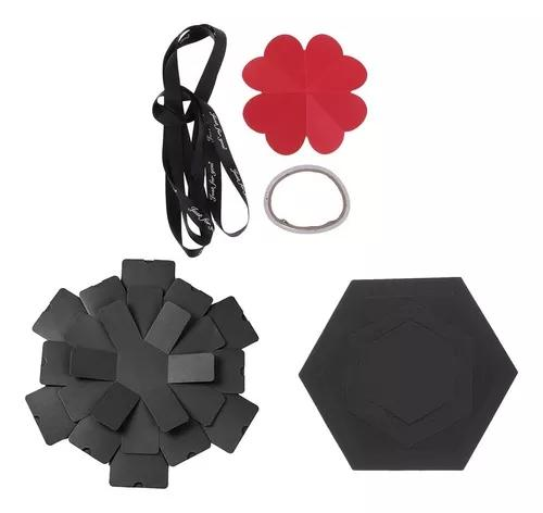 Hexagon explosion box diy scrapbook foto álbum para