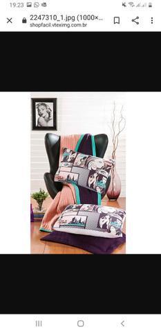 Jogo de cama completo com estampa pop art