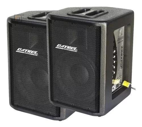 Kit caixa de som ativa usb + passiva 400w rms datrel oferta