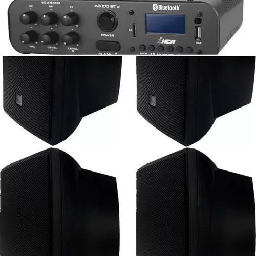 Kit som ambiente 4cxs jbl c621p+amplificado stereo ab100btst