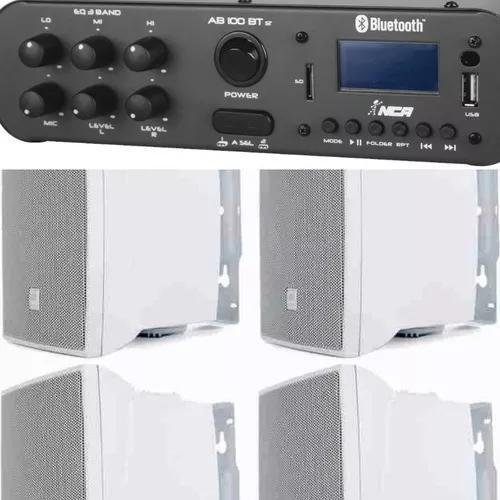 Kit som ambiente amp st 60w bluetooth+4cxs jbl c321b+barato