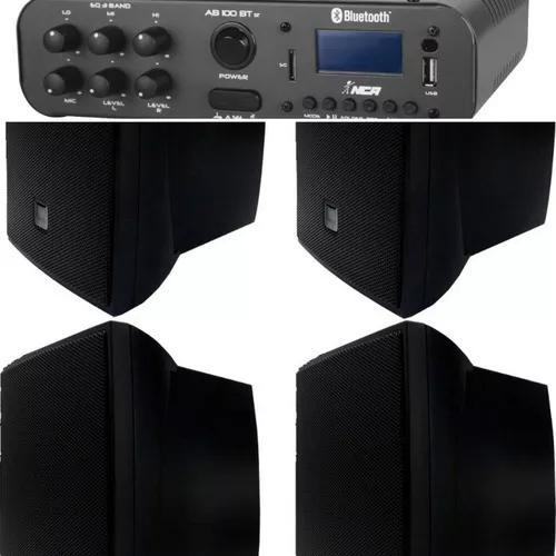 Kit som ambiente amp stereo 60w c/bluetooth+04cxs jbl c321p