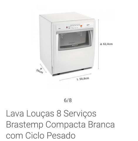 Lava louças brastemp 8 serviços, nunca foi usada!!