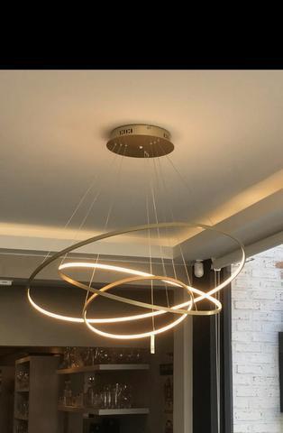 Luminária circular nova moderna em criciúma