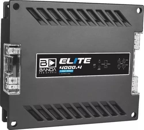 Módulo amplificador banda elite 4000.4 wrms 2 ohms 4 canais