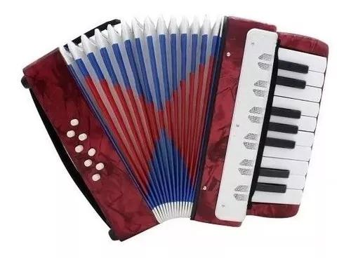 Mini acordeon sanfona infantil criança 8 baixos