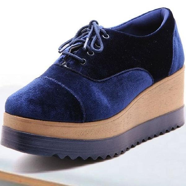 Oxford azul marinho spot shoes