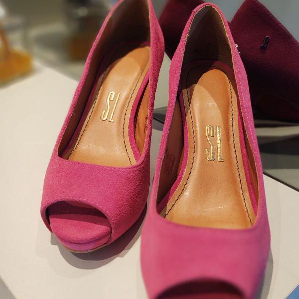 Peep toe rosa