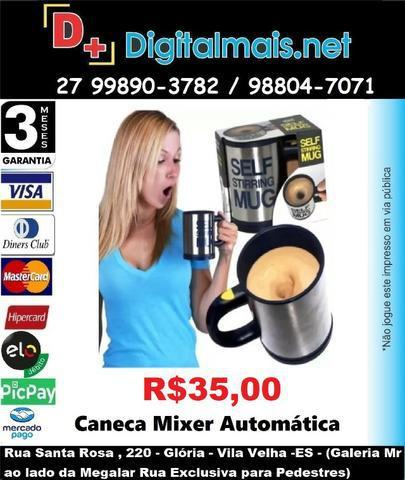 Promoção caneca mixer automática - self stirring mug