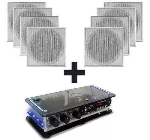 Som ambiente amplificador + 8 caixa acustica teto p/ gesso