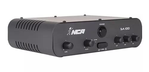 Som ambiente amplificador de mesa compacto nca ab100 wrms
